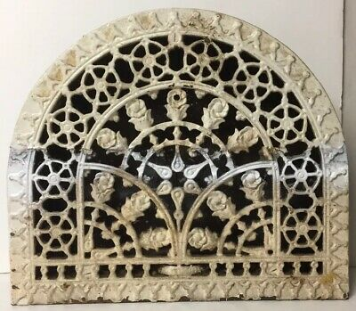 Antique Victorian Cast Iron Arch Dome Heat Grate Vent, Ornate