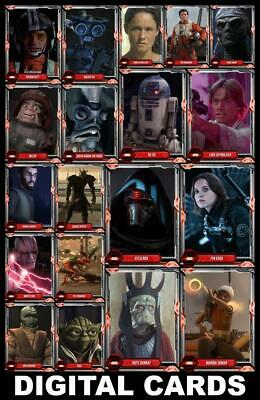 Topps Star Wars Card Trader TECHNO-GALACTIC Series 2 [19 CARD RED SET] Kylo+++