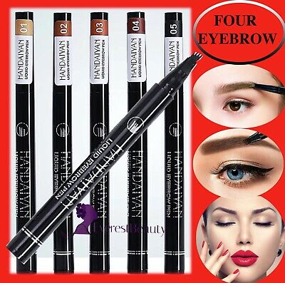Microblading Tattoo Eyebrow 3D liquid Ink Pen waterproof 4 fork pencil brow UK
