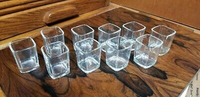 Bar Quality 1.5 oz Square Shot Glass with Heavy Base, Clear Thick Glass 10 Pack
