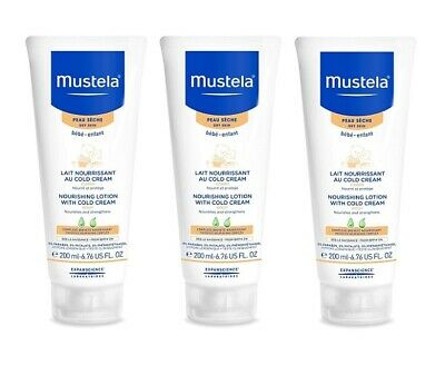 Mustela Nourishing Lotion with Cold Cream, Body, 6.76 Oz (Pack of 3)