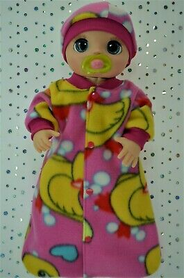 """Dolls Clothes For 17"""" Baby Alive Real As Can Be POLAR FLEECE SLEEPING BAG~HAT"""