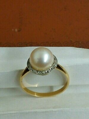 Bague Perle Annee 1940 Or 18 carats