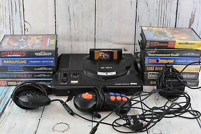 Retro SEGA Mega Drive 1 16-Bit Console and Bundle Controllers Games Power Cable