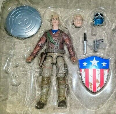 Marvel Legends 80 Years CAPTAIN AMERICA First Avenger LOOSE 2 Pack NO Peggy WW2