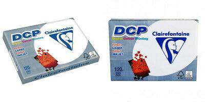 """A4 Card Paper 250 GSM White Smooth Card  /""""CLAIREFONTAINE/"""" 1857 DCP Craft A4 Card"""