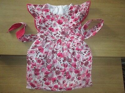 Marks & Spencer Autograph Girls Pretty Floral Dress / Tunic - 9 Years