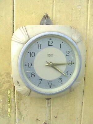 Clock Parts  Wall Clock Wind Up  Smiths  Wall  Clock  Spare  To  Repair