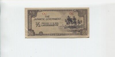 1940's Japanese Government 1/2 Shilling Banknote Invasion A-781