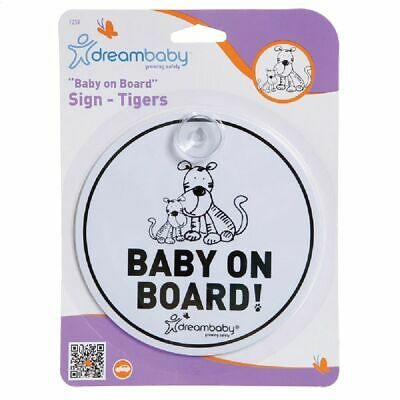 DreamBaby Baby On Board Sign Tiger