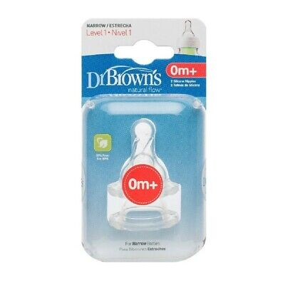 Dr Browns Options Narrow Neck Teat Level 1 0-3 Months 2 Pack