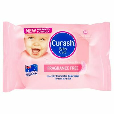 Curash Baby Wipes Fragrance Free 20 Pack