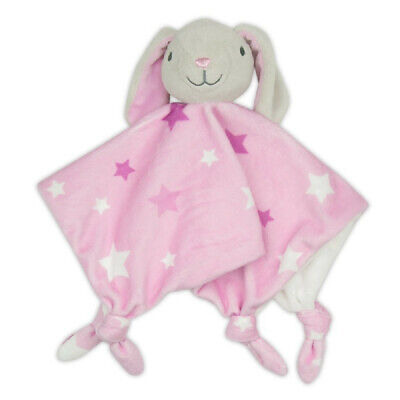 The Little Linen Company Lovie Comforter Pink Bunny
