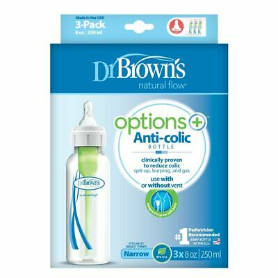 Dr Browns Options Narrow Neck Bottle 250Ml 3 Pack