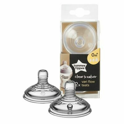 Tommee Tippee Closer To Nature Teat - Variable Flow - 2 Pack