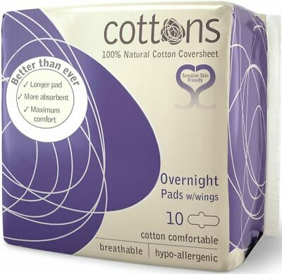 Cottons Overnight Pads 10Pack
