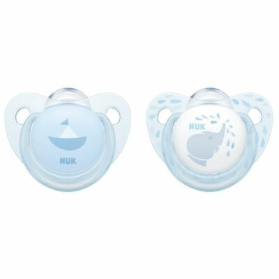 NUK Soother - Baby Blue - 0-6 Months - 2 Pack