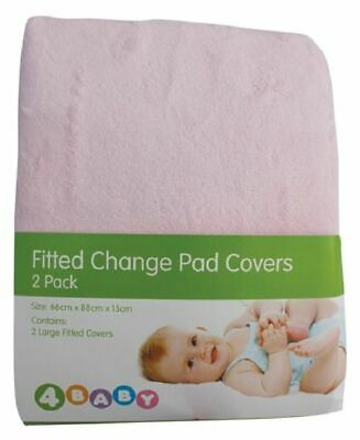4Baby Change Pad Cover Pink 2 Pack