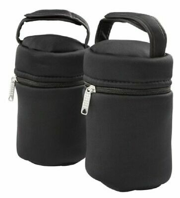 Tommee Tippee Closer To Nature Thermal Bags - Black - 2 Pack
