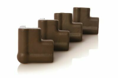 Dreambaby Foam Corner Bumpers Brown 4 Pack
