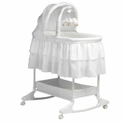 Childcare Chloe Rocking Bassinet Double Skirt White