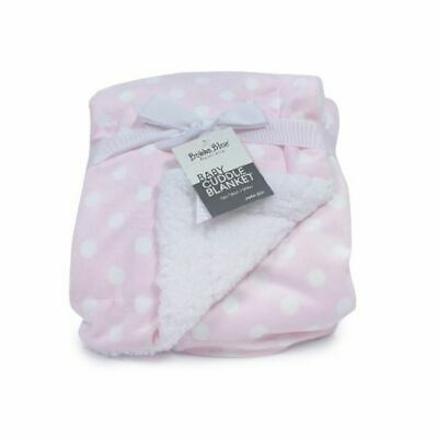 Bubba Blue Polka Dots Cuddle Blanket Pink