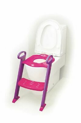 4Baby Toilet Seat With Steps Pink / Purple