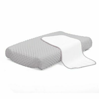 4Baby Dot Change Pad Cover With Liner Grey