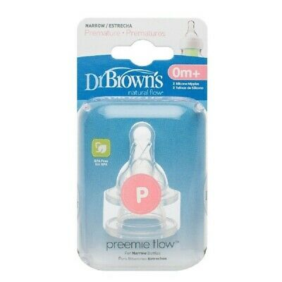 Dr Browns Options Narrow Neck Teat Preemie 2 Pack