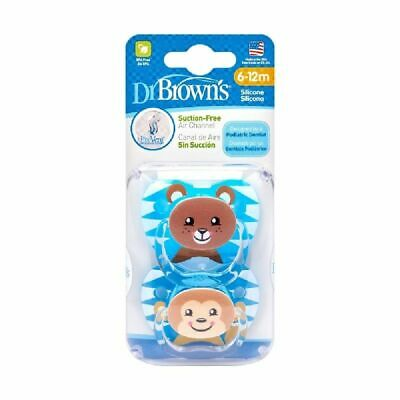 Dr Browns Prevent Printed Soother Stage 2 Boy 2 Pack