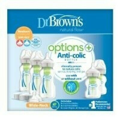 Dr Browns Options+ Wide Neck Newborn Feeding Set