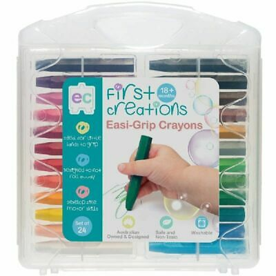 First Creations Easi-Grip Crayons Set Of 24