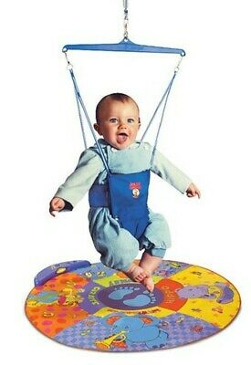 Jolly Jumper Bouncer with Musical Mat Elite - Blue