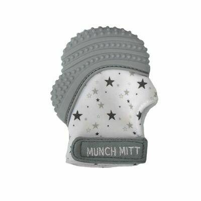 Malarkey Munch Mitt Teething Mitten Grey Stars
