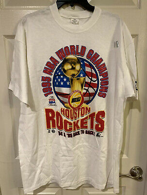 Vintage Starter Houston Rockets 1995 NBA World Champions Basketball Tee Mens XL