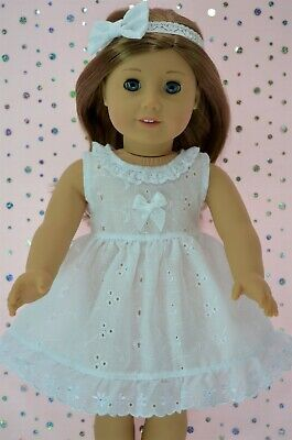 """Doll Clothes For 18""""American Girl~Our Generation~Journey ANGLAISE DRESS~HEADBAND"""