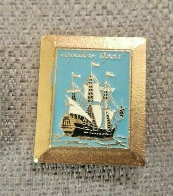 "Legend  sailboat ""OREL"" - Eagle Russia medal badges"