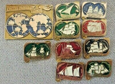 Russian legendary sailboats , Russia  Set of 10 badges, Rare