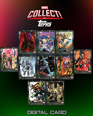 2019 MARVEL FACTIONS SERIES 3 SET OF 10 CARDS Topps Marvel Collect Digital