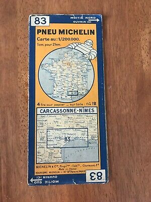 Vintage Michelin Map France 1930'S