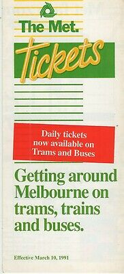 Melbourne Vic 1997 Mel Tickets Rail Tram Bus Listed $5