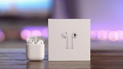Refurbished Genuine  Apple AirPods 2nd Generation with wireless Charging Case