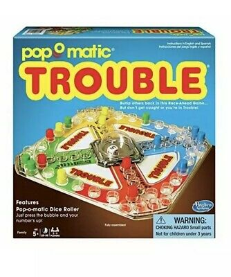 Classic Trouble Board Game ORIGINAL CLASSIC BOARD GAME For Kids or Famliy Sealed