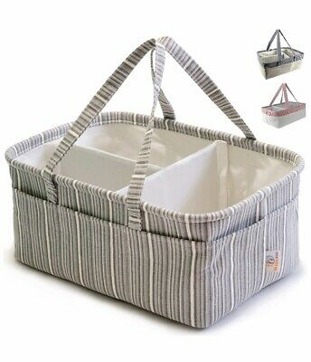 Diaper Caddy Organizer For Changing Table - Made From Natural Cotton
