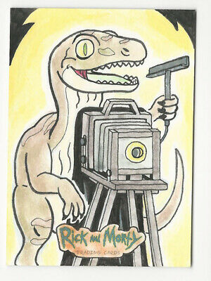 Rick and Morty Season 2 2019 Cryptozoic Sketch Card by Diego Mendes Valeria 1/1