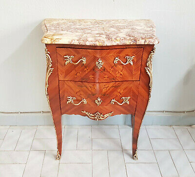 Little Frenchchest Of Drawers Napoleon Iii Empire , Inlaid In Rosewood 1900