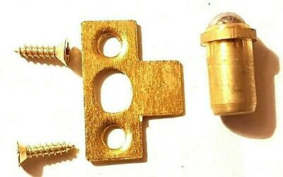 6mm Brass Ball Door Catch Bullet Sprung With Screws Cabinet Closer Multi Listing