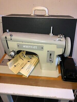 MERRITT Sewing Machine & Pedal & Case - Heavy Duty WORKING VGC Barely Used