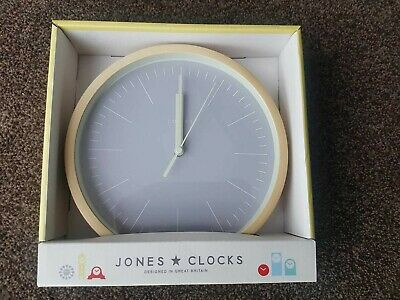 Jones Clocks® Small Round Wall Clock - The Spin - Perfect as a Kitchen Clock NEW