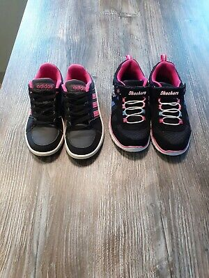 Girls Size 12 Adidas And Sketchers Trainners